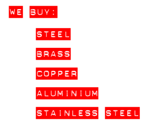 We Buy Steel, Brass, Copper, Aluminum, Stainless Steel